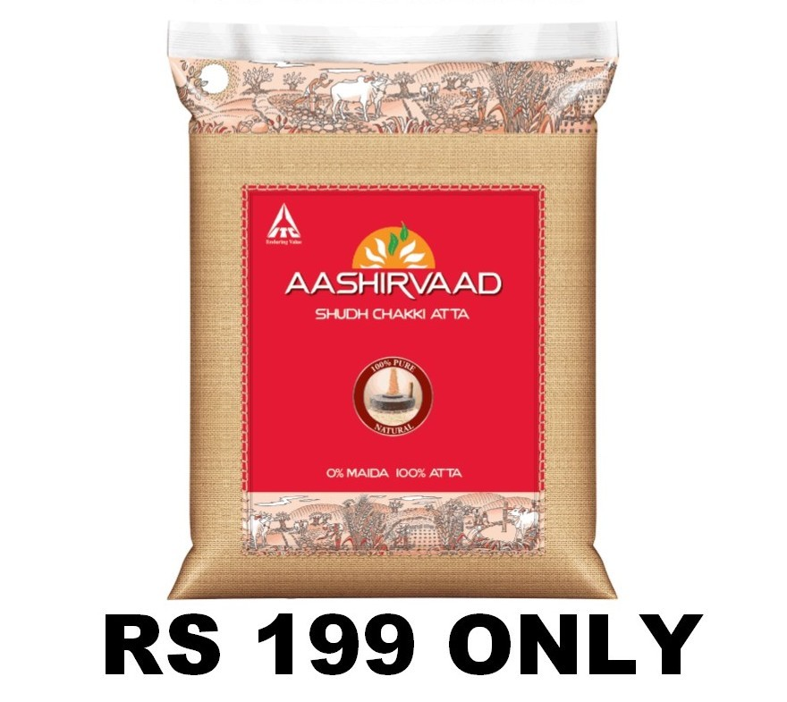 AASHIRVAAD ATTA 10 KG FOR RS 199 ONLY